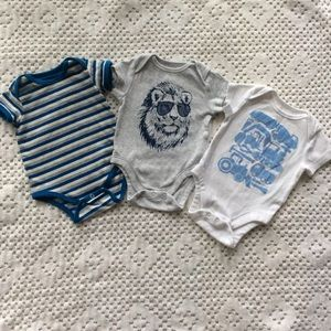 Like-new | Old Navy + PACT | Bodysuits boy 0-3m